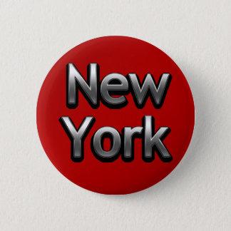 産業ニューヨーク-赤の… 5.7CM 丸型バッジ