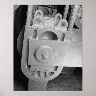 産業写真-サンフランシスコ湾橋ケーブル靴 ポスター