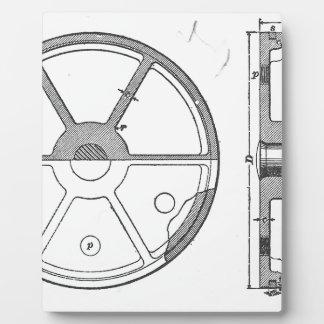 産業機械ギアの短命なもののプリント フォトプラーク