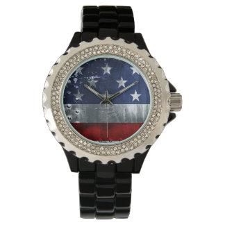 産業米国旗の愛国心が強い腕時計 腕時計
