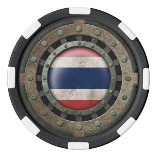 産業鋼鉄タイの旗ディスクグラフィック ポーカーチップ