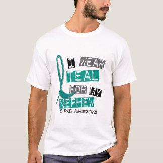 甥37のためのPolycystic腎臓病PKDのティール(緑がかった色) Tシャツ