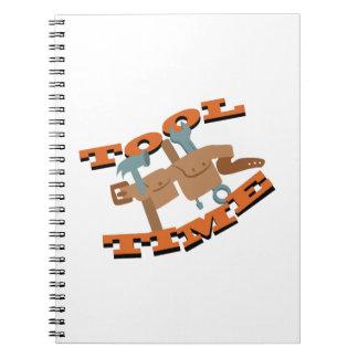 用具の時間ベルト ノートブック