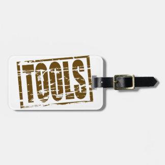 用具の茶色のゴム印の効果 ラゲッジタグ