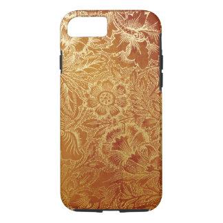 用具を使われた西部の革南西こはく色のブラウン iPhone 8/7ケース