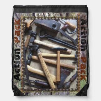 用具: 行為のパックのドローストリングのランドセル ナップサック