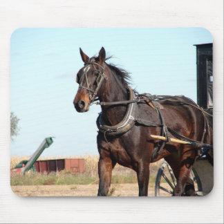 田園アマン派の馬および乳母車 マウスパッド