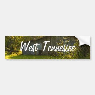 田園テネシー州の春の朝ライト バンパーステッカー
