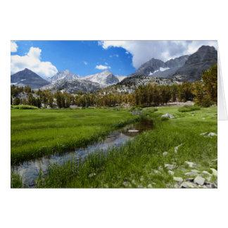 田園入り江および山の景色、中ブランク カード