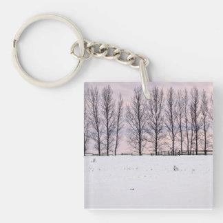 田園冬の景色 キーホルダー