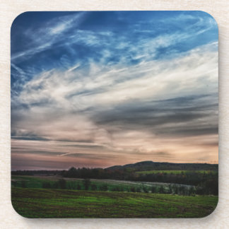 田園日没の景色 コースター