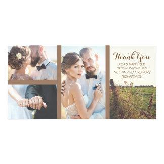 田園有刺鉄線の塀の素朴な結婚式 カード