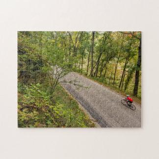 田園田舎道の道のサイクリング ジグソーパズル
