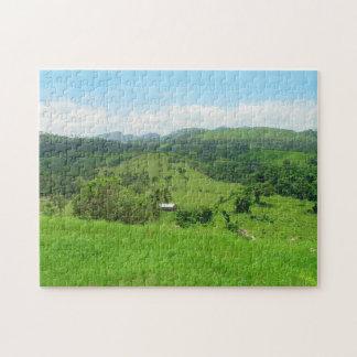 田園眺め、ドミニカ共和国のジグソーパズル ジグソーパズル