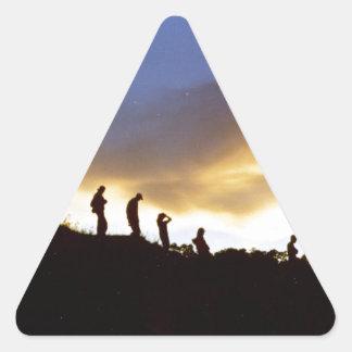 田園観光事業を促進して下さい 三角形シール