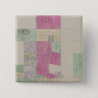 田園都市、Finney郡、カンザス 5.1cm 正方形バッジ