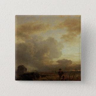 田舎の清算の雷雨、1857年 5.1CM 正方形バッジ
