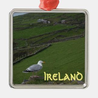 田舎アイルランドの緑のアイルランドのオーナメント メタルオーナメント