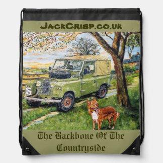 田舎ドローストリングバッグの背骨 ナップサック