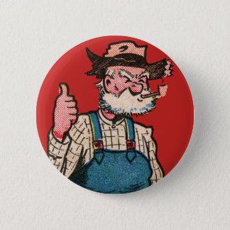 田舎者の農家の親指! 缶バッジ