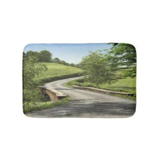 田舎道のバス・マット バスマット