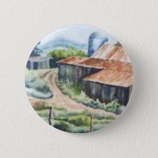 田舎道ボタン 5.7CM 丸型バッジ