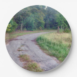 田舎道 ペーパープレート