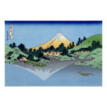 甲州三坂水面、Misaka、Hokusaiからの北斎の眺め富士山 ポスター