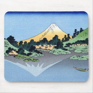 甲州三坂水面、Misaka、Hokusaiからの北斎の眺め富士山 マウスパッド