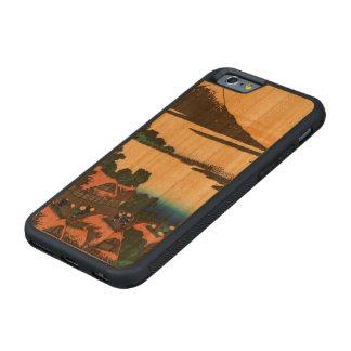 甲斐国のIsawaの夜明け CarvedチェリーiPhone 6バンパーケース