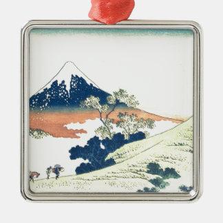 甲斐国- Katsushika HokusaiのInumeのパス メタルオーナメント