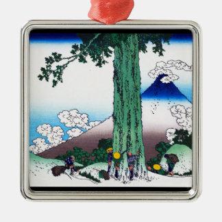 甲斐国Katsushika Hokusaiの三島のパス メタルオーナメント