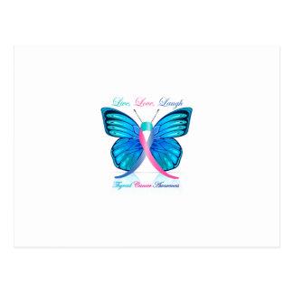 甲状腺剤の蝶生きている愛笑い ポストカード