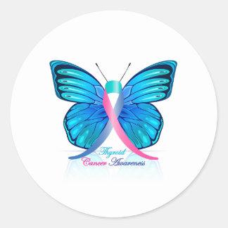 甲状腺剤の蝶 ラウンドシール