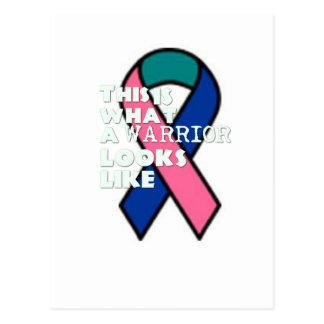 甲状腺癌の生存者の戦士 ポストカード