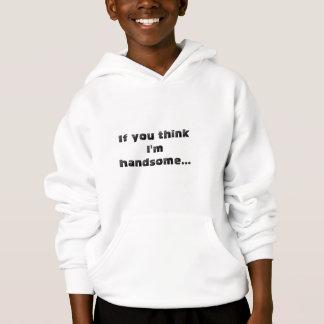 男の子およびパパのためのハンサムなフード付きスウェットシャツ