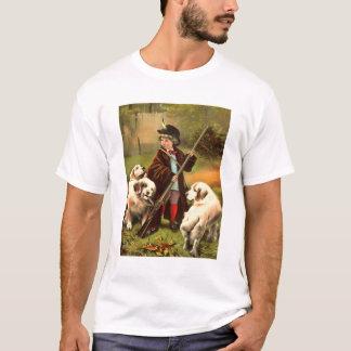 男の子およびレトリーバー Tシャツ