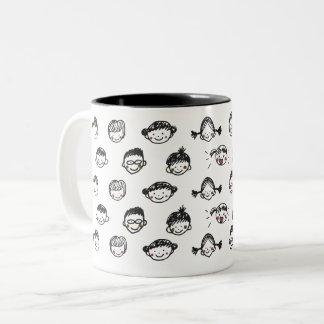 男の子および女の子 ツートーンマグカップ