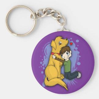 """""""男の子および彼の犬"""" Keychain キーホルダー"""