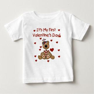 男の子くまの第1バレンタインデー ベビーTシャツ