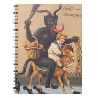 男の子とのHobbyhorseに乗るKrampus ノートブック