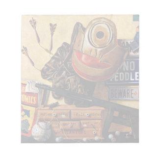 男の子のおもちゃの静物画 ノートパッド