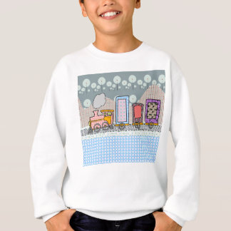 男の子のためのかわいい蒸気の列車の漫画のギフト スウェットシャツ
