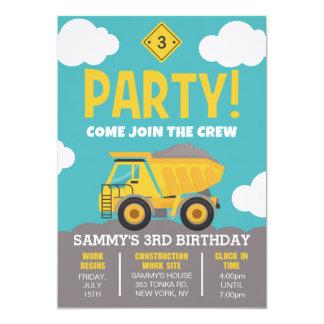 男の子のための建築のテーマのパーティの招待状 カード