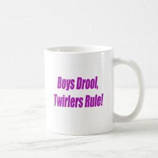 男の子のよだれのTWIRLERSの規則- PURPLE.psd コーヒーマグカップ
