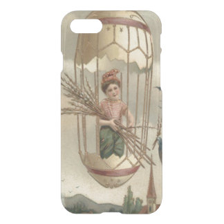 男の子のイースターエッグの鳥の空の気球 iPhone 8/7 ケース