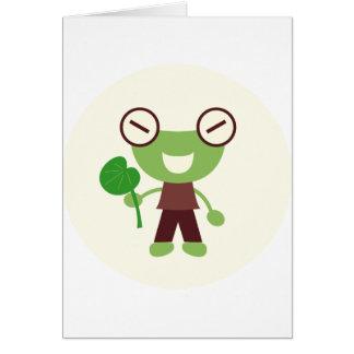 男の子のカエル カード