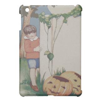 男の子のカボチャつる植物のジャックOのランタンの満月 iPad MINI カバー