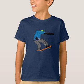 男の子のスケートボーダーのワイシャツ Tシャツ