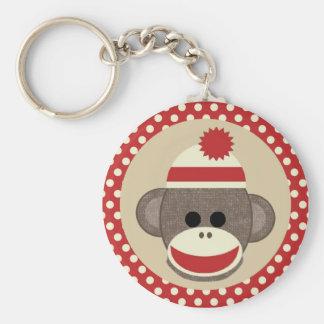 男の子のソックス猿のkeychain キーホルダー